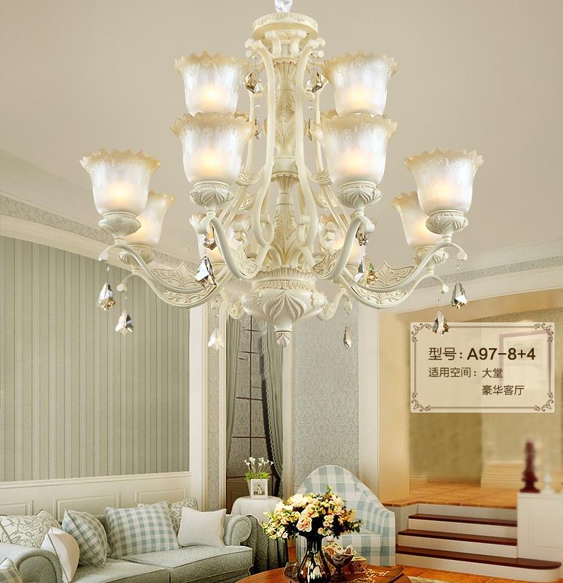 宏灯灯饰欧式吊灯 田园客厅灯卧室灯具简约餐厅灯