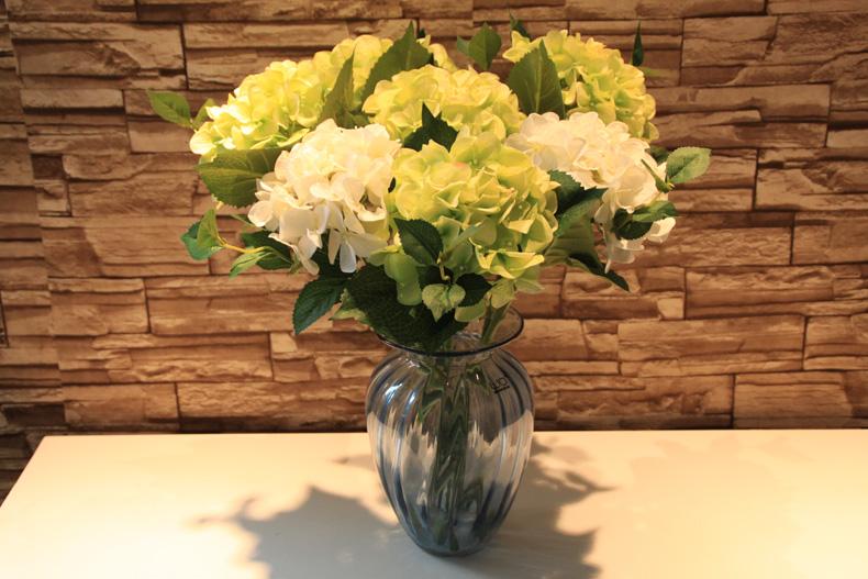 wo+高档仿真花假花绣球花瓶插花家居饰品装饰客厅餐厅