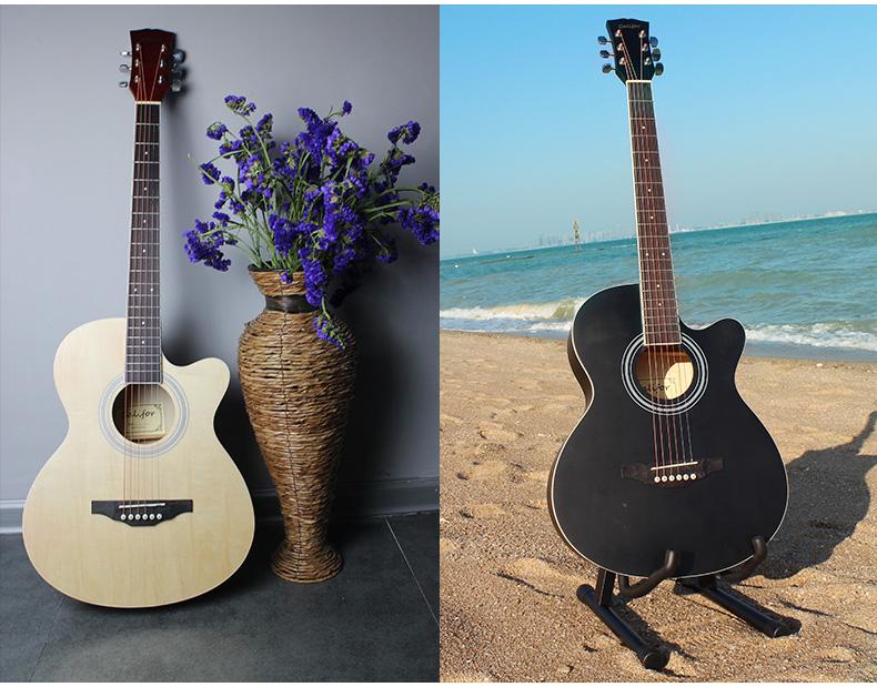 品牌吉他,请放心购买 ★ 采用优质木材手工制作,椴木面板原材料