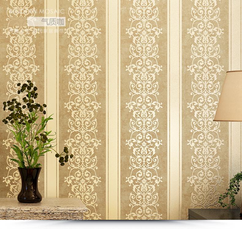 漠本现代简约蚕丝皮革竖条纹壁纸 欧式无纺布墙纸 卧室客厅电视背景墙