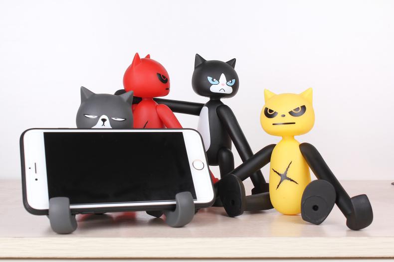 任务牛 猴子手机支架小猴可爱创意懒人桌面办公室小猫