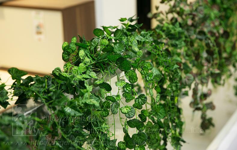 知根高仿真藤蔓田园葡萄叶海棠叶壁挂藤 管道装饰假 花墙面吊顶布置