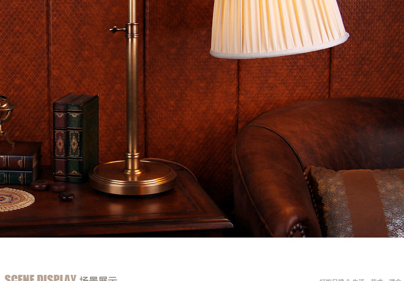 帝拿 美式全铜灯多功能卧室床头摇壁台灯 纯铜欧式高档台灯 酒店装饰图片