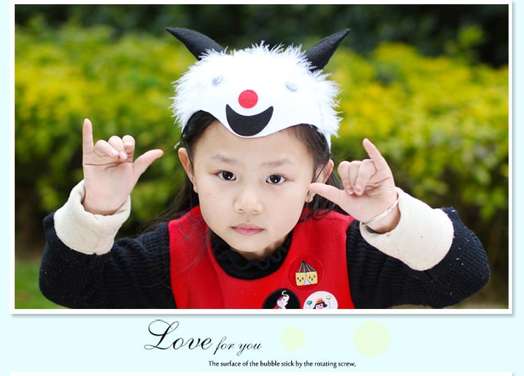 儿童节卡通帽子十二生肖老鼠兔子猪小动物头饰表演道具老虎幼儿园