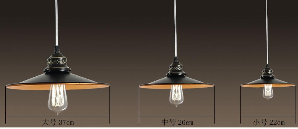 创意简约工业复古吊灯 美式乡村单头餐厅铁艺吊灯简欧式美式楼梯 37cm图片