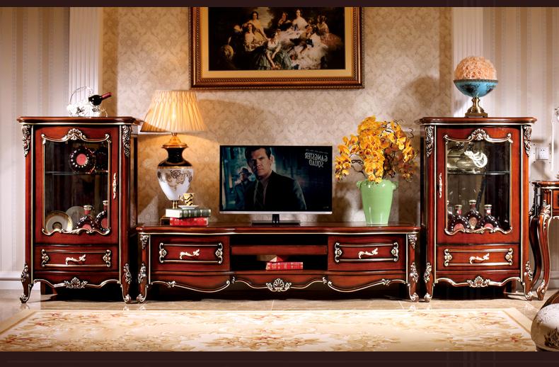 欧式客厅电视机柜简约储物地柜组合家具