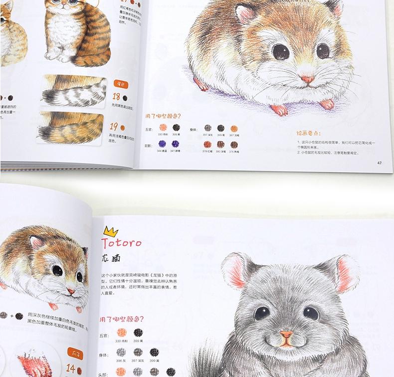 正版呆萌小动物画起来一年级学画画美术自学教程绘森活色铅笔彩铅喵星