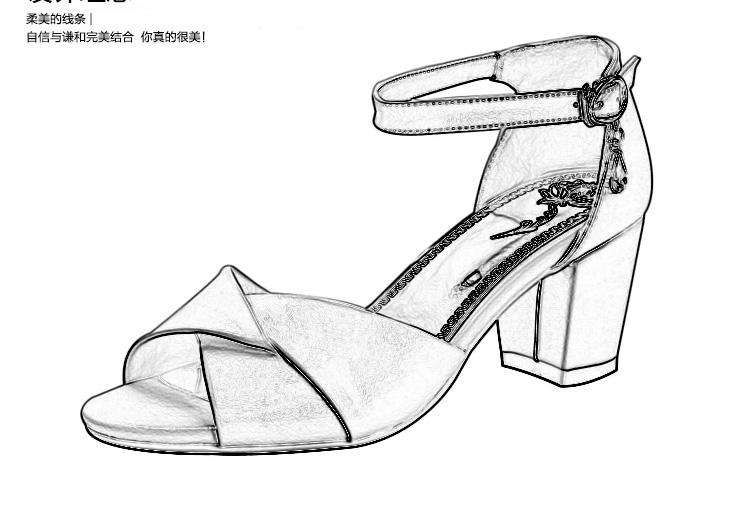 手绘 线稿 鞋 鞋子