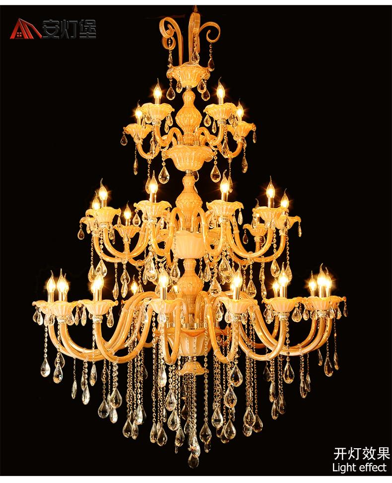 安灯堡水晶灯客厅灯大吊灯特价水晶餐厅吊灯欧式客厅吊灯复式楼大吊灯图片