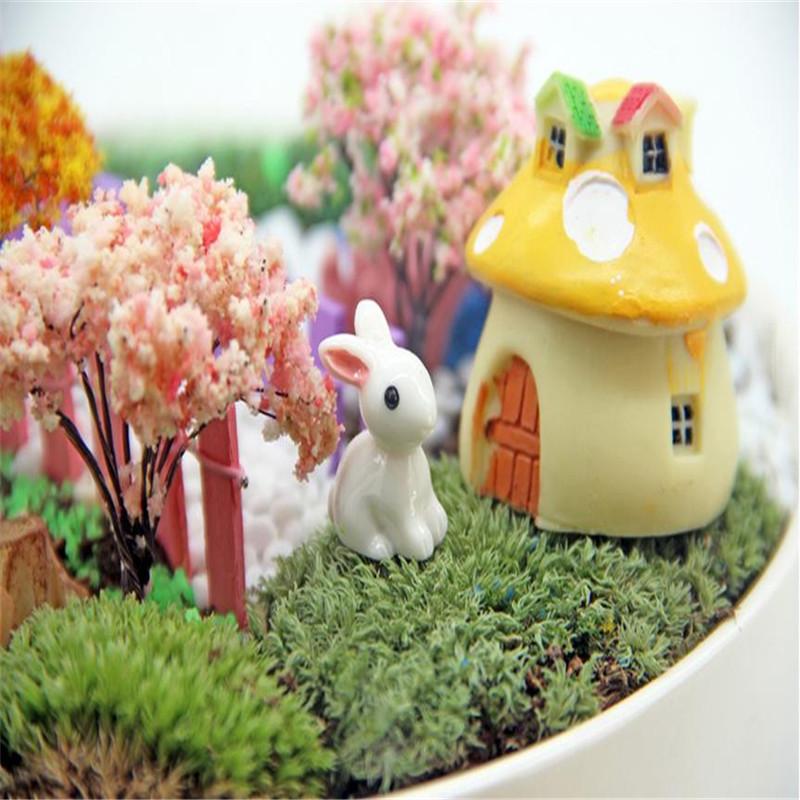 千姿秀 多肉植物装饰小摆件动物坐姿大白兔