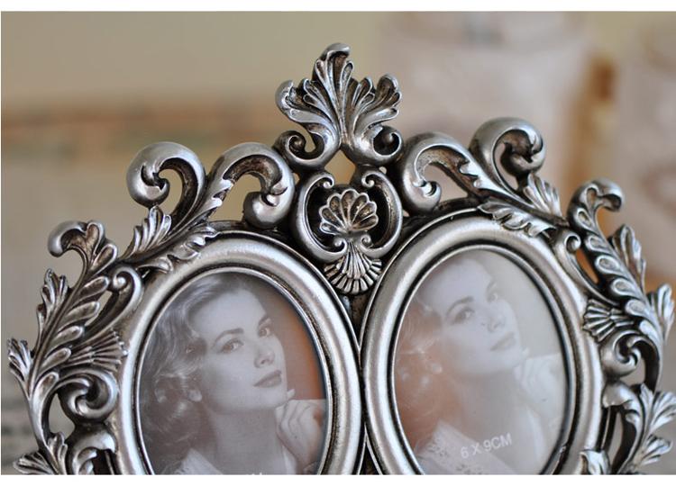 芮尚 复古浮雕6寸相框 欧式宫廷像框 画框 创意家居饰品 树脂工艺 双图片