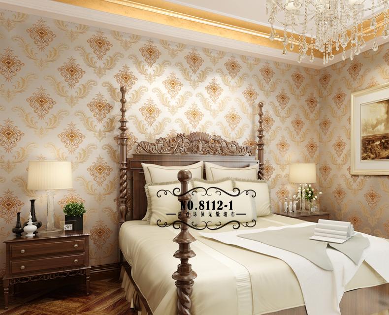 幕点无缝墙布 欧式美式田园壁布 卧室客厅满铺墙纸布图片