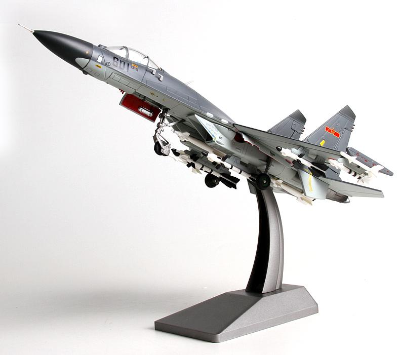 特尔博1:72歼11苏27战斗机飞机模型摆件 中国梦仿真合金金属 模型玩具