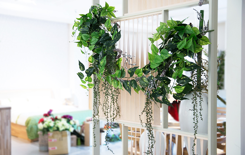 知根 高仿真藤蔓植物绿藤绿萝叶藤 壁挂花藤藤条 家居装饰花藤 绿色