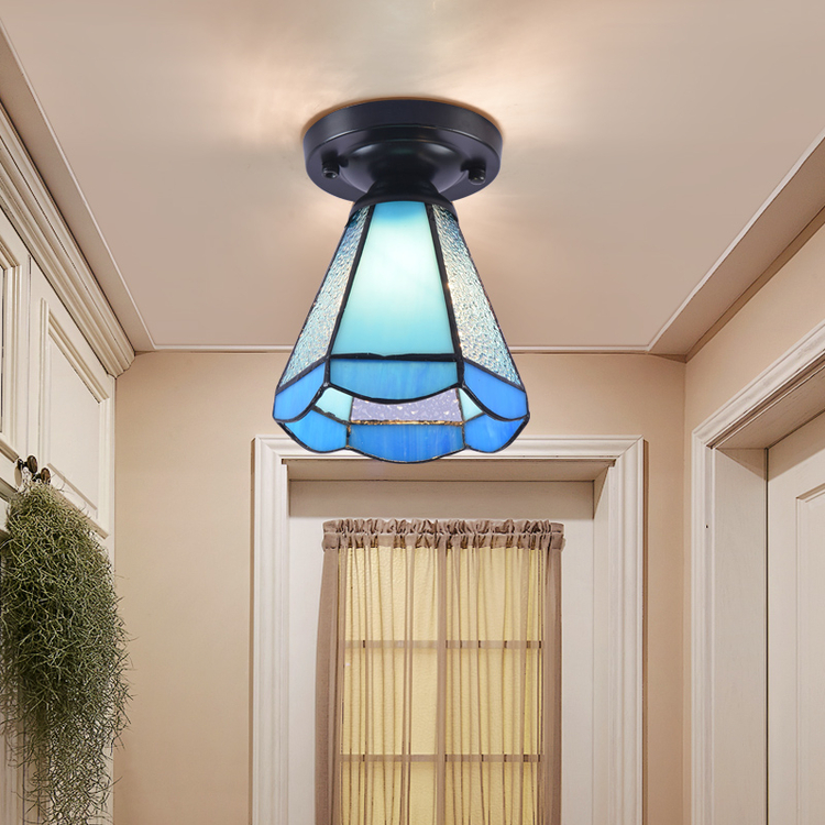 欧式客厅灯简欧卧室灯地中海走廊玄关阳台灯吸顶灯过道灯 圆柱款 9瓦