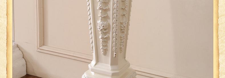 全是美 实木花架 欧式花架 木制置物架 客厅墙角花几