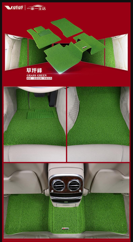 脚垫车浅绿色