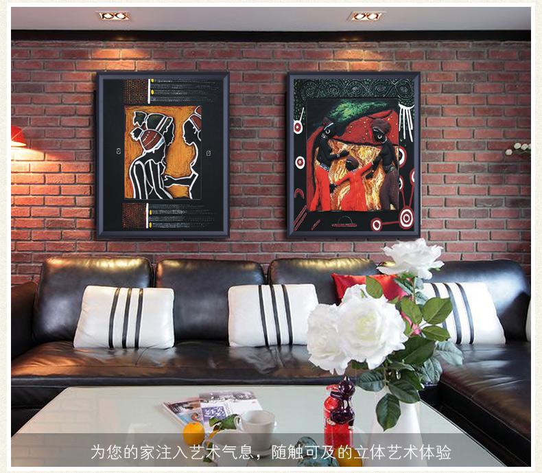 3d立体浮雕装饰画 西式人物手绘油画 别墅西餐厅玄关客厅壁画沙发背景