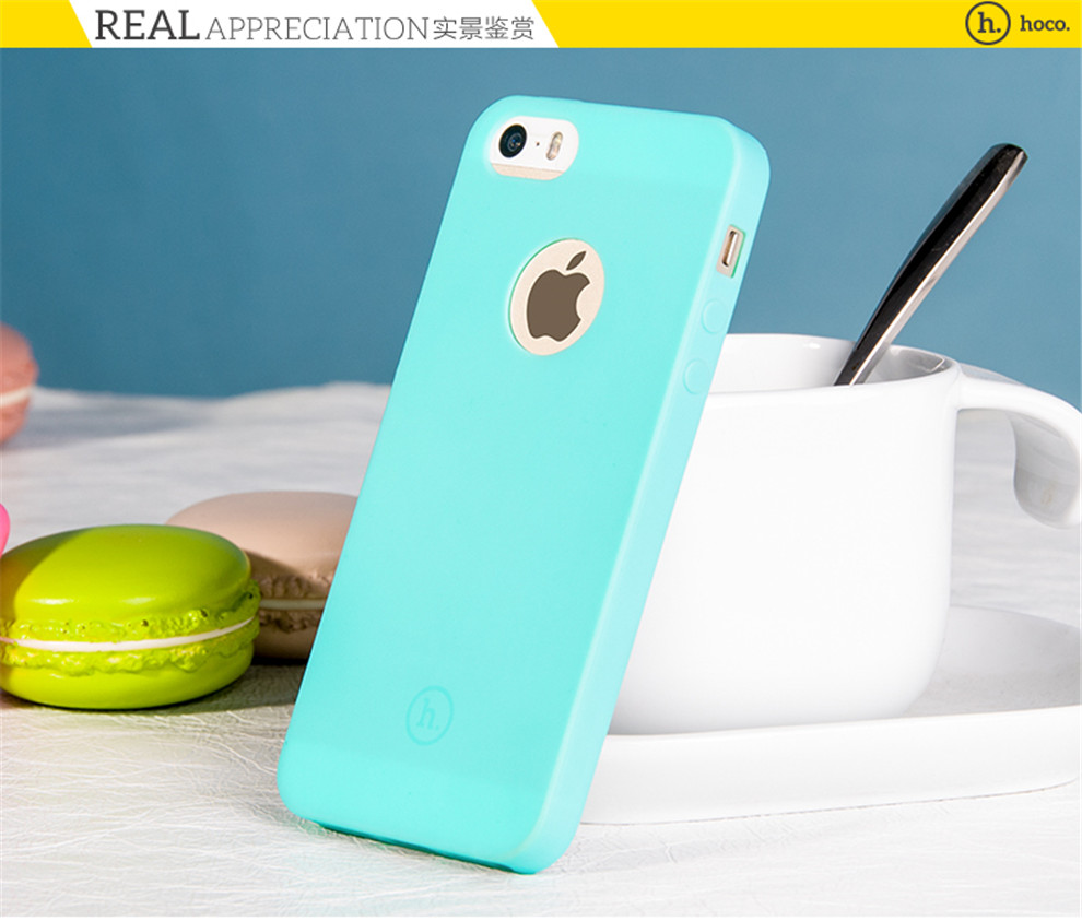 浩酷 手机壳硅胶软壳保护套 适用于苹果5/iphone5s 果恋-西瓜红