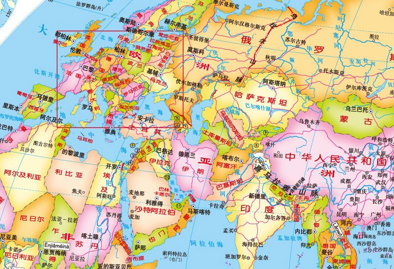 中国地图 世界地图 地球仪知识 地球仪小助手 小百科