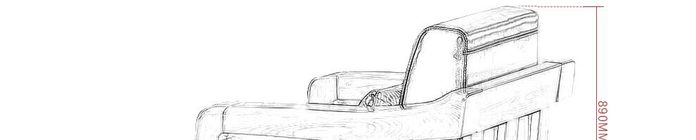 情相伴 实木沙发真皮沙发客厅沙发组合老榆木实木家具