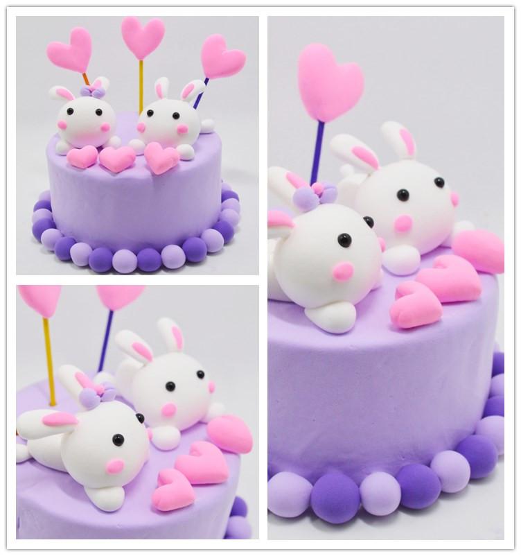彩泥轻粘土 蛋糕 儿童手工制作材料包 工具黏土橡皮泥套装 水果冰淇淋
