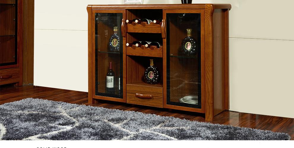lago中式实木餐边柜 酒柜 客厅储物柜 矮柜木厨柜 碗柜实木餐厅家具 2图片