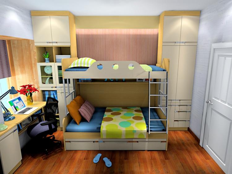 6米小房间上下床设计图卧室图片展示图片