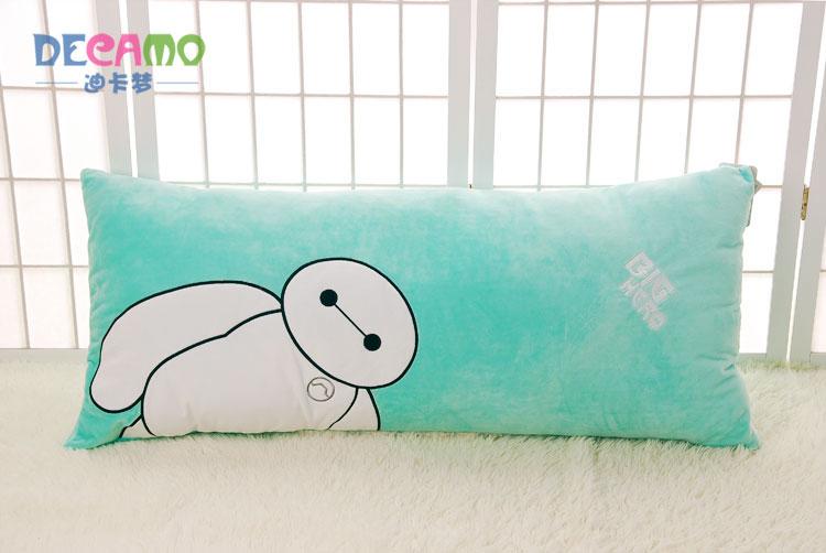aoger正版迪士尼超能陆战队大白卡通毛绒抱枕靠垫可拆洗情侣枕头 绿色