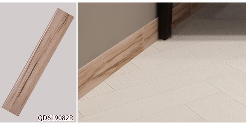 仿木纹砖用什么踢角线踢脚线安装?