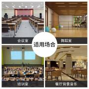 Shile SHILE professionelle Hintergrundmusik Konferenz Multifunktionssaal Audioset OK-555C+BX-406 Lautsprecher 2 OK555C Verstärker schwarz + BX406 Lautsprecher schwarz 1 Paar + SH28