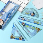 Disney Disney Student Set Ruler Ruler Triangle Ruler Protractor Combination 4-piece Exam Drawing Ruler Stationery Set DM0315-5M