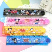 Wies vs Disney Mickey Armor Princess Folding Ruler Children Student Ruler Folding Ruler Graphic Ruler Wanhua Ruler Mickey Random