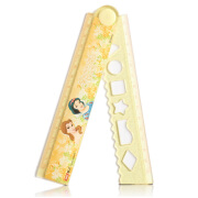 Disney Stationery Ruler Mickey Folding Ruler 30CM Children's Ruler Wave Ruler Lace Large 0346 P5330 Yellow Princess