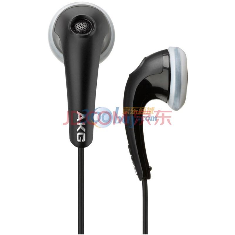 AKG 爱科技 K318BLK 耳塞式耳机 玄色