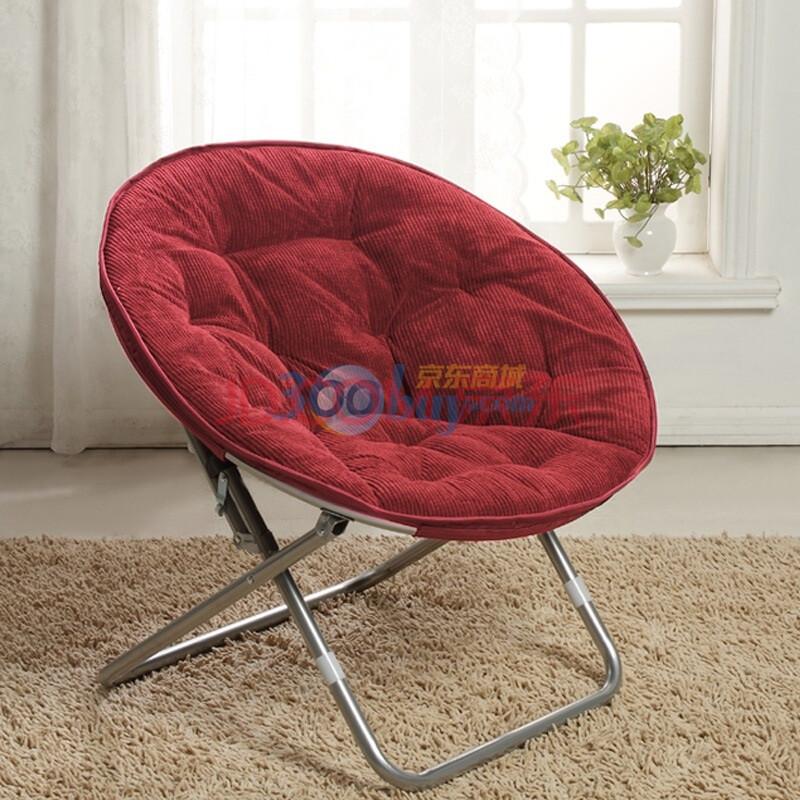 背景图片 红色/瑞西屋时尚灯芯绒圆盘椅枣红色图片