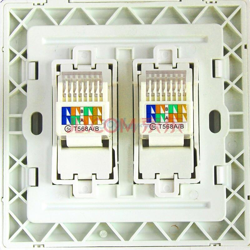 网线插座接法8和4线《墙上网线插座的接法《网线插座