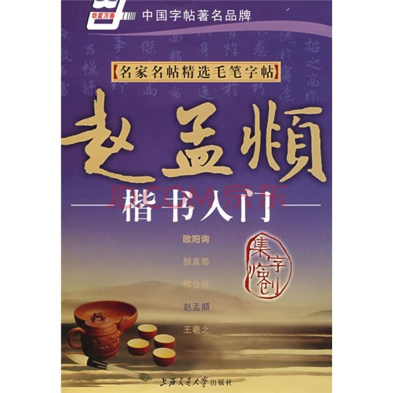 名家钢笔书法实用教程 赵孟頫楷书入门 高清图片