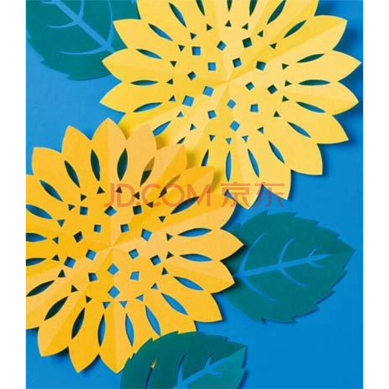 手工剪纸花朵图片 简单的手工剪纸教程图,儿童手工剪纸花朵制作