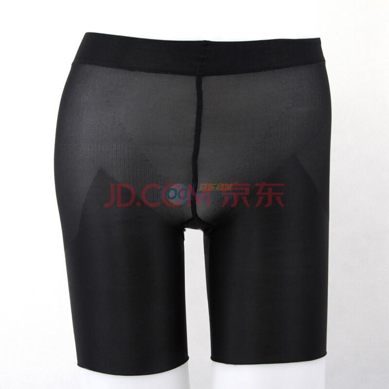 塑臀裤黑色束腰五分裤