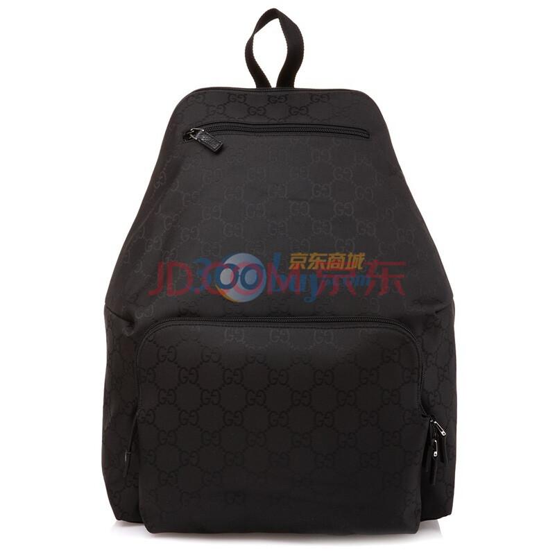 gucci 古驰 黑色织物男款双肩背包179606f869n1000