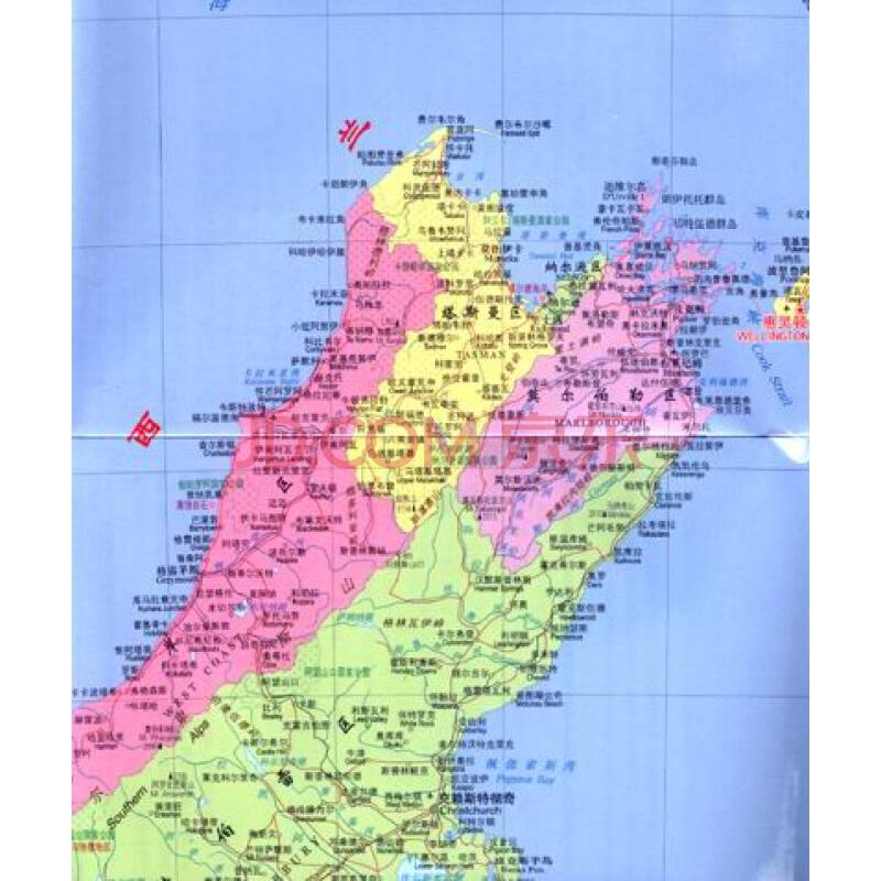 新版·世界分国地图·大洋洲:新西兰