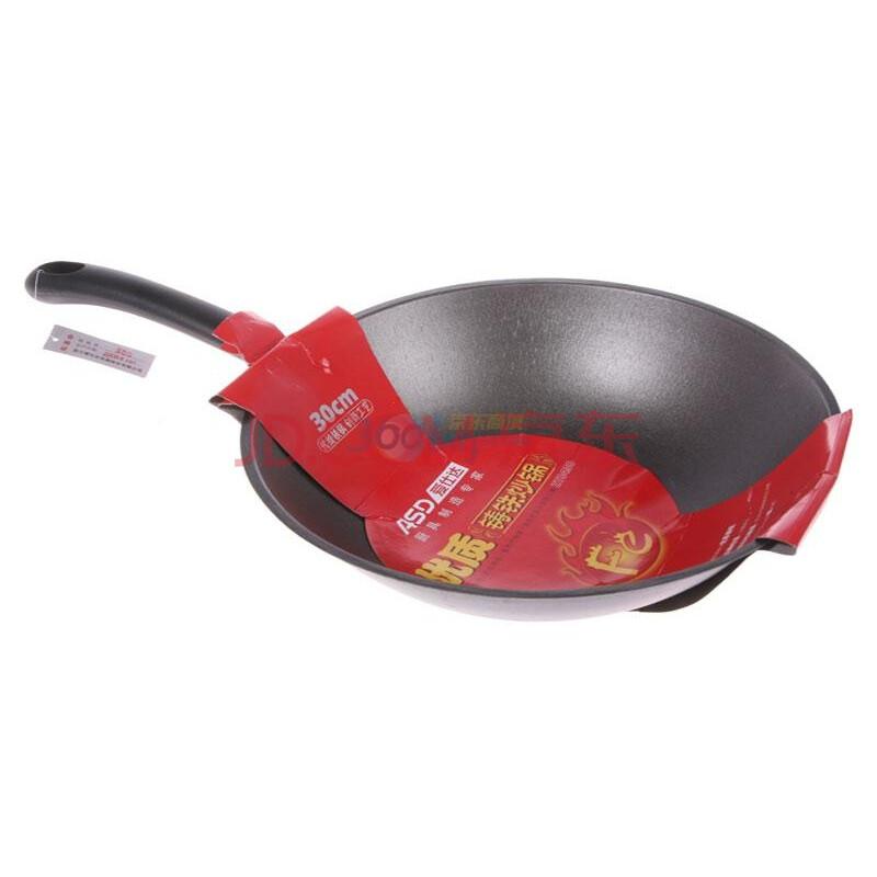 【怎么清楚铁锅上的不干胶商标】