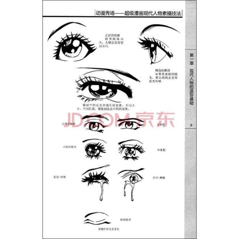 动漫人物素描眼睛画法 人物五官素描眼睛画法 素描人物眼睛画法