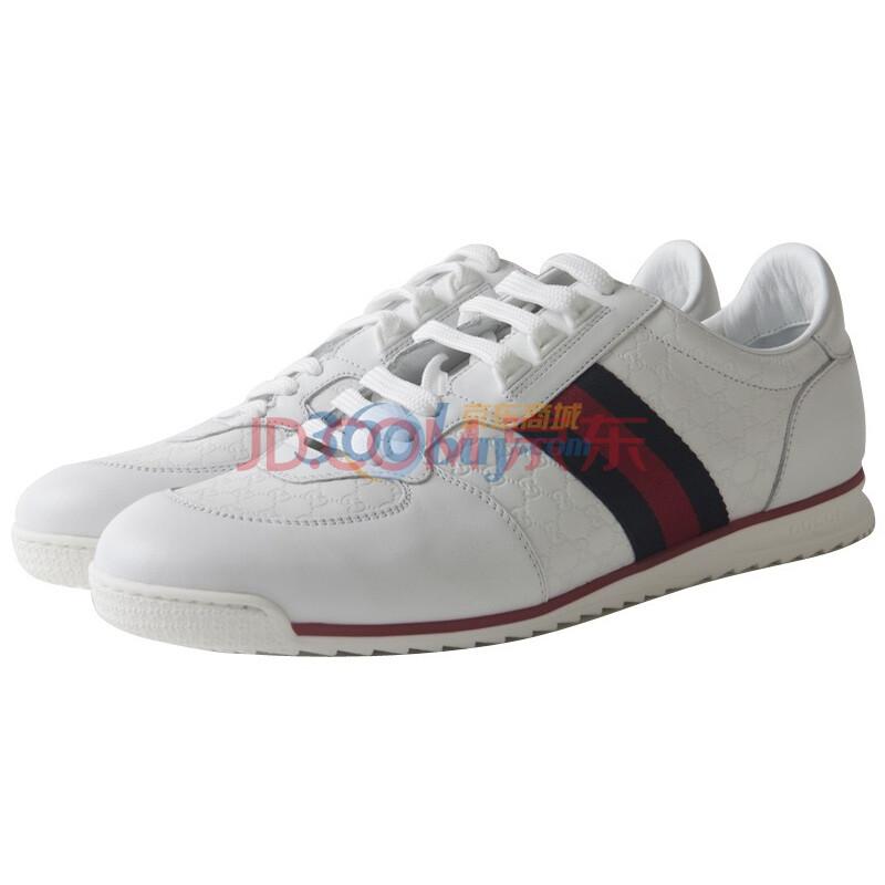 白色牛皮男士运动鞋