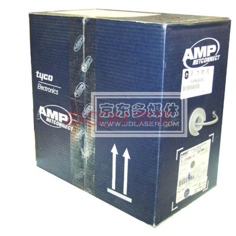 安普网联6-219586-4 原装超五类网线 蓝箱 305米