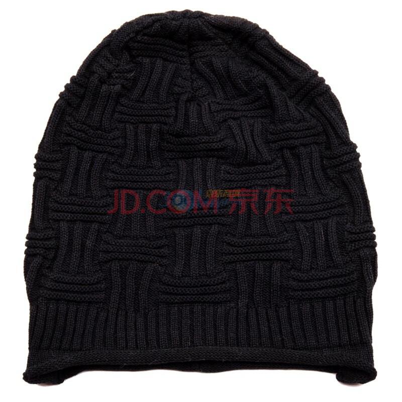 柏汇优品韩版女士宽松版保暖时装帽特价款BH1558黑色