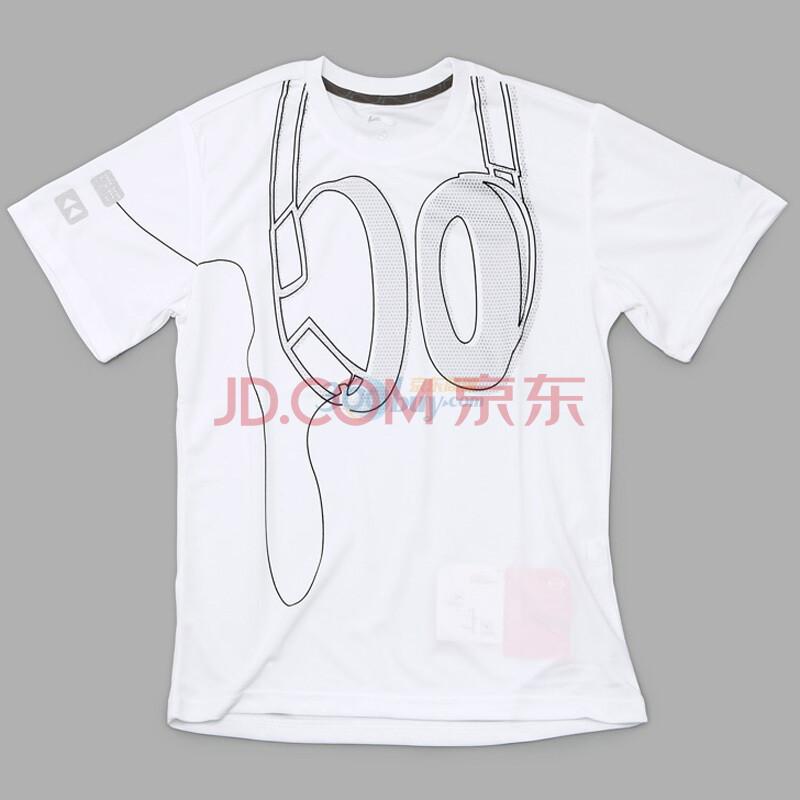 李宁Lining2010年跑步系列男子文化衫白色1HSC225 M码