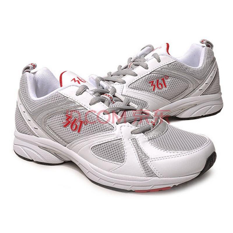 361°男式跑步运动鞋7042215浅灰+红