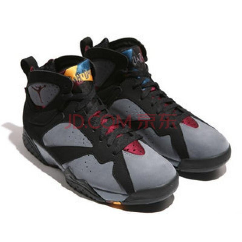 NIKE/耐克 限量版篮球鞋 乔丹7代304775/003 黑色 7.5图片